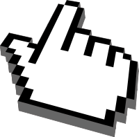 Hand-shaped cursor